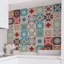 Adesivo Azulejo 20x20cm 24un Cozinha Colorido Lourdes