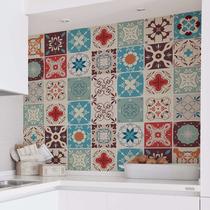 Adesivo Azulejo 15x15cm 36un Cozinha Colorido Lourdes