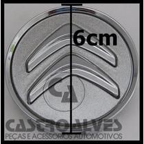 Calota Tampa Miolo Centro Roda Citroen C3 Aro 15 Prata =1 Pç