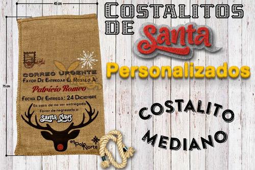 Costales Navideños Personalizados Medianos - $ 430.00 en Mercado Libre