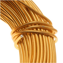 Alambre Artesano Aluminio Color Dorado Calibre 18 (11.8m)