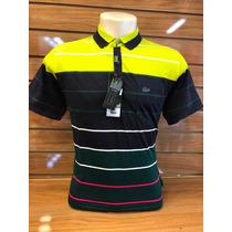 Kit C8 Camisa De Gola Polo Masculino Listrada Lacoste Pronto