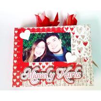 Álbum Foto Scrapbook Romántico San Valentin Amor Y Amistad