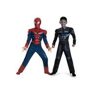 Disfraz Reversible Spiderman Hombre Araña Y Electro Talla 6
