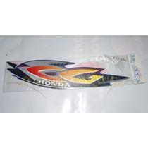 Jogo De Adesivos Completo Cg Titan 125 Ks 2001 Azul - Lbm
