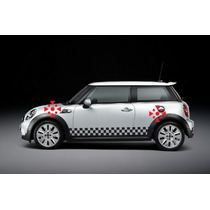 Sticker Vinil Tuning Franja Lateral Checked Fun Mini Cooper