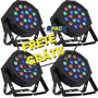 Kit 4 Refletor Led Par 64 Rgb 18 Leds De 1w, Digital, Strobo