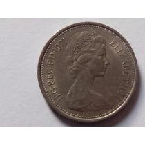 5 Penny Five New Penny 1971, Moneda Gran Bretaña, Inglaterra