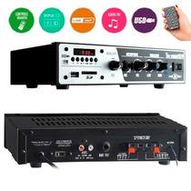 Receiver Amplificador Som Ambiente Slim 1000 Usb Sd Fm Frahm