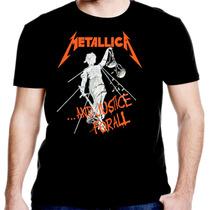 Camiseta Manga Curta Metalica Ref=332