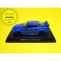 Nissan Skyline Gt-r R34 Z-tune Bayside Blue Kyosho 1/64