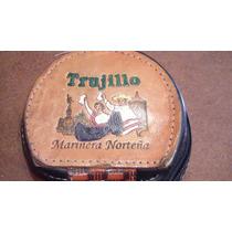 Monederito De Cuero Artesanal De Perú Trujillo