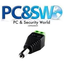 Conector Dc Plug Macho Para Cctv