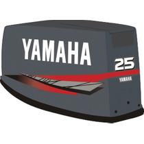 Adesivo Motor De Popa Yamaha 25 E 40 Hp