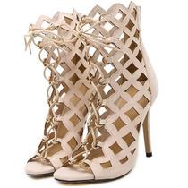 Sandalia Feminina Gladiadora Sapato Feminino Importado