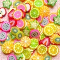 Fatias De Fimo Frutas Para Decoração De Unhas Brinde Strass