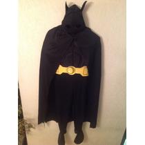 Disfraz Batman 10/12 Nuevo Traje Capa Botas Halloween