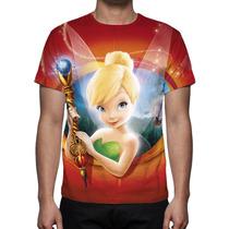 Camisa, Camiseta Sininho Tinkerbell Mod 02 - Estampa Total