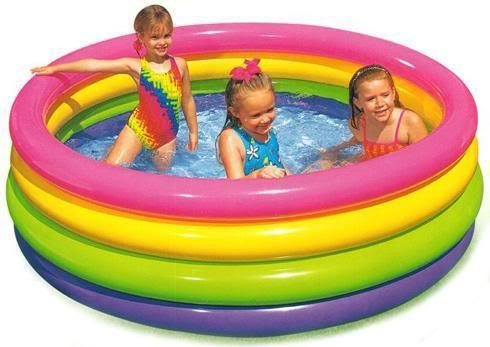 Piscina infl vel intex redonda familiar infantil 666lts for Piscinas desmontables infantiles