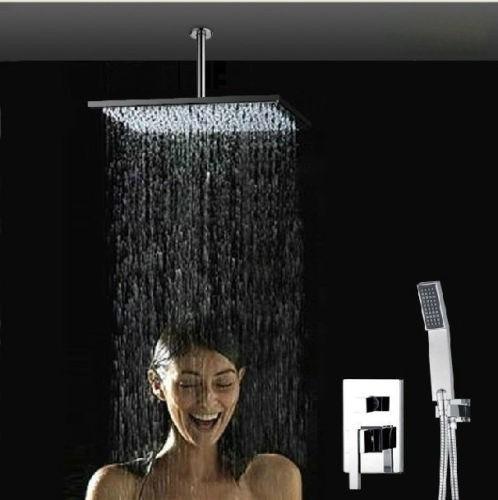 Regadera lluvia de 40cm x 40cm mezcladora ducha de mano for Vastago para llave de ducha