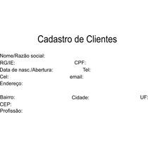 Ficha Para Cadastro De Cliente Personalizada 100unid