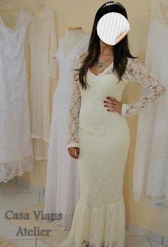 Vestido Noiva Exclusivo Casa Vians Noivas Reais