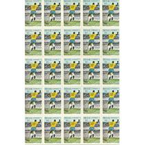 Futebol 1969 Pelé Milésimo Gol Folha Completa 25 Selos C658