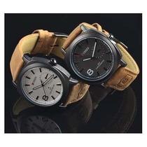 Relógio Curren Original- Pulseira De Couro Vários Modelos