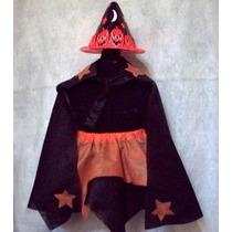 Set Disfraz Brujita Nenas 2 A 8 Años Halloween Brovillnet