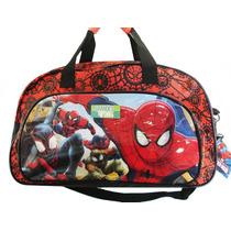 Bolso Infantil Spiderman Hombre Araña Original Linea Premium