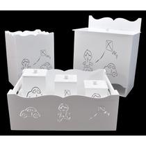 Kit Bebê Meninos (6 Peças) Branco Mdf Laser