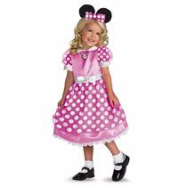 Disfraz De Mimí Color Rosa Talla 2-4 Original Nuevo Disney