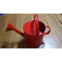 Regador De Água Para Jardim Galvanizado Vermelho 3,5 Lts