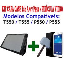 Kit Capa Case Tablet Samsung Tab A 9.7 P550 + Película Vidro
