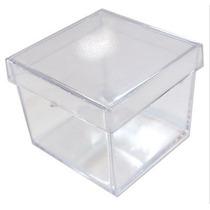 100 Caixinha De Acrilico 5x5 Transparente Pronta Entrega