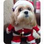 Roupa Para Cachorros E Gatos Fantasia Papai Noel