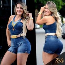 Macaquinho Rhero Jeans Estilo Pitbull
