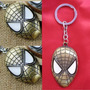 Llavero Mascara Spiderman Comic - Hombre Araña Color Bronce