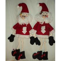 Adornos Navideños, 2 Santas Claus Para Puertas O Guias.