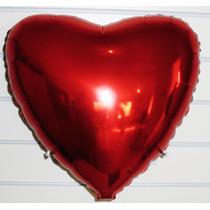 Balão Metalizado Coração Pacote Com 10 Balões - Frete Gratis