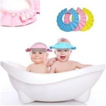 Gorra De Baño Para Bebe Medida Ajustable Color Azul