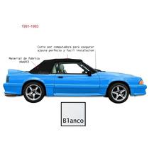 Envío Hoy! Capota Blanca Con Ventana Plastica Mustang 91 93