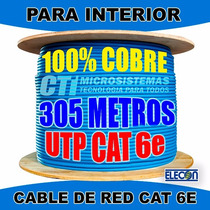 Cable Utp Interior Red Camaras Cctv Cat6e 100%cobre 305mts