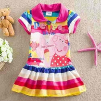Vestido Bebe Peppa Pig - Pronta Entrega 1 Ano
