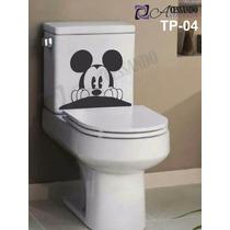 Adesivo Parede Banheiro Caixa Acoplada Mickey Exclusividade