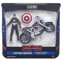 Marvel Legends Civil War Capitán América C/moto 3.75 Hasbro