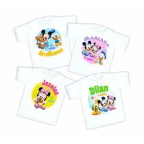10 Playeras Mickey Y Minnie Baby Personalizada Envío Gratis