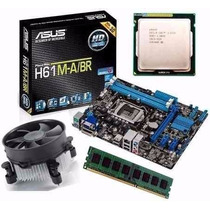 Kit Placa Mae H61 + Processador Intel Core I3 3.3ghz + 4gb
