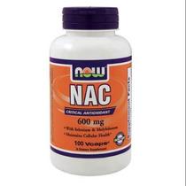 Nac N-acetil Cisteína 600 Mg De Selenio Del Molibdeno Now Fo
