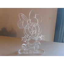 Souvenir Minnie Bebe En Acrilico 11.5cm X 8cm Grabado Laser